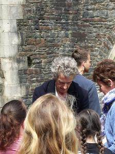 Peter Capaldi signing autographs for the fans.   (Photo by Tony Chamberlain)