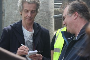 Our Agent is caught by the Doctor, so poses as an 'ordinary fan' to get an autograph.   (Photo by Tony Chamberlain)