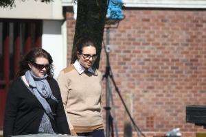 Ingrid Oliver arrives (Photo - Tony Chamberlain)