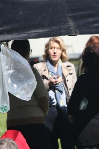 Jemma Redgrave on set (Photo - Tony Chamberlain)