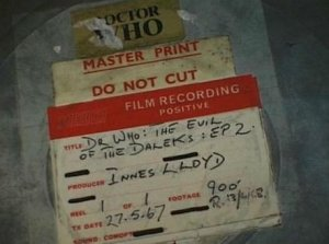 The film can for the existing second episode of The Evil of the Daleks