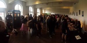 The autograph hall. (Photo by Tony Chamberlain)