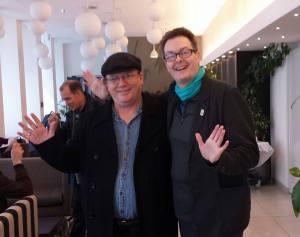 Tony Chamberlain and Andrew Cartmel. (Photo by Tony Chamberlain)