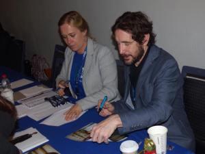 Paul McGann (8th Doctor) signing autographs. (Photo by Pascal Salzmann)