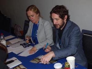 Paul McGann (8th Doctor) signing autographs. (Photo by Pascal Salzmann)