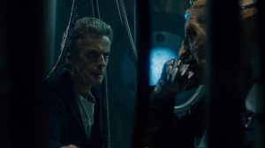 The Doctor and Davros. Two old men having a chat.